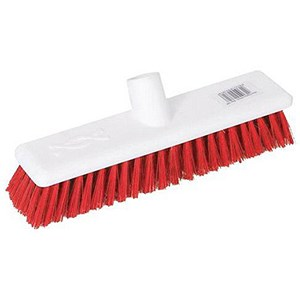 Image of Scott Young Research Hygiene Hard Broom / 12 inch / Red