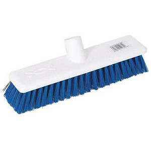 Image of Scott Young Research Hygiene Hard Broom / 12 inch / Blue