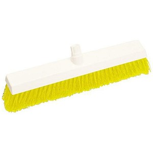 Image of Scott Young Research Hygiene Hard Broom / 12 inch / Yellow