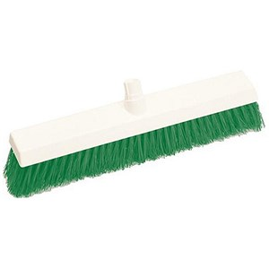 Image of Scott Young Research Hygiene Hard Broom / 12 inch / Green