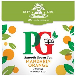 Image of PG Tips Green Tea with Mandarin - 4 Packs of 20 Bags