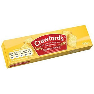 Image of Crawfords Custard Cream Biscuits - Pack of 12 (150g)