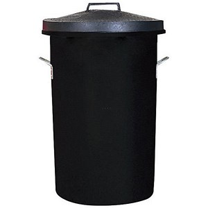 Image of Heavy Duty Dustbin / 85 Litre / Black