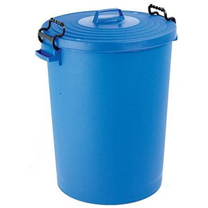 Image of Dustbin with Clip Lid / 110 Litre / Blue