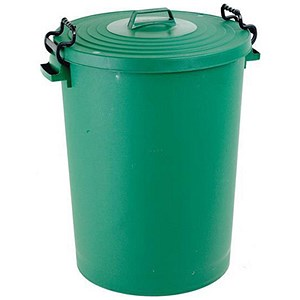 Image of Dustbin with Clip Lid / 110 Litre / Green