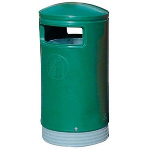 Image of Outdoor Hooded Bin - Dark Green