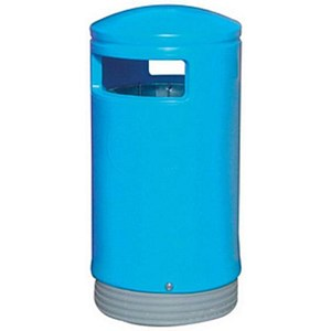 Image of Outdoor Hooded Bin - Blue