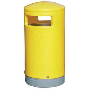 Image of Outdoor Hooded Bin - Yellow