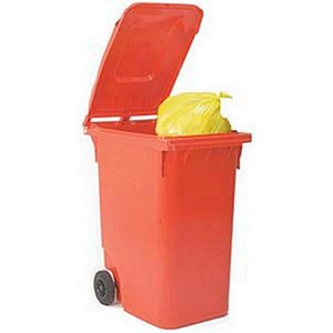 Image of Wheelie Bin / 80 Litre / Red