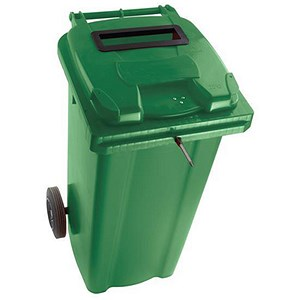 Image of Wheelie Bin Slot & Lid Lock / 140 Litre / Green