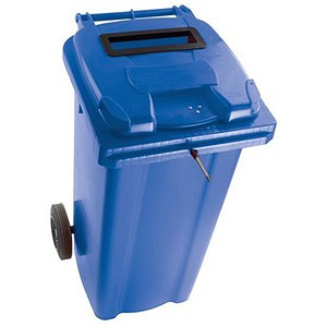 Image of Wheelie Bin Slot & Lid Lock / 240 Litre / Blue