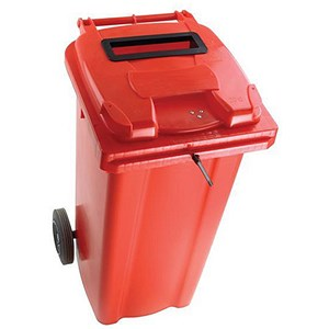 Image of Wheelie Bin Slot & Lid Lock / 240 Litre / Red