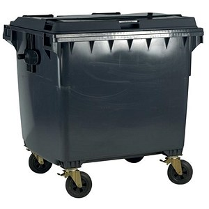Image of Four-Wheeled Bin / 770 Litre / 55kg / W1350xD770xH1360mm / Grey