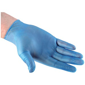 Image of Disposable Gloves / Medium / Blue / Pack of 100