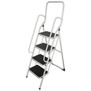 Image of Metal Stool with Handrail - 4 Step