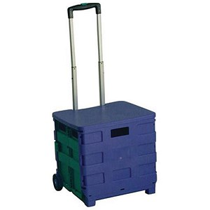 Image of Folding Shopping Cart Lid - Blue/Green
