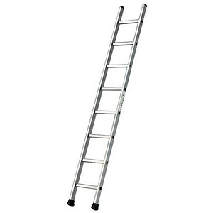 Image of Aluminium Ladder Single Section - 8 Rungs