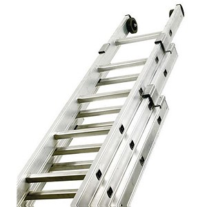 Image of Aluminium Push Up Ladder / 3 Section / Rungs 3x12