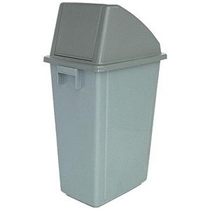 Image of Recycling Waste Bin / 58 Litre / Grey