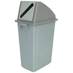 Image of Paper Recycling Bin / 58 Litre / Grey Lid