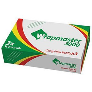 Image of Wrapmaster Clingfilm Refills / 30cm Wide / 3 Rolls