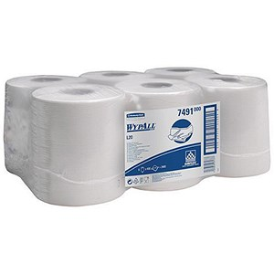 Image of Wypall L20 Wipers / Centrefeed Roll / White / 6 Rolls