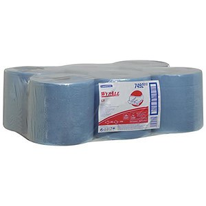 Image of Wypall L20 Wipers Centrefeed Roll / Blue / 6 Rolls