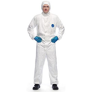 Image of Tyvek Xpert Hooded Coverall / Type 5/6 / Medium