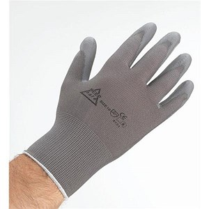 Image of Keepsafe Safety Gloves / Size 8 / Grey / Pair