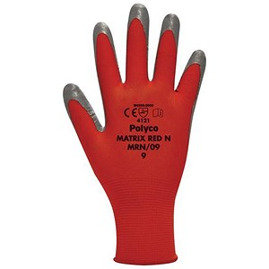 Image of Juba Nitrile Gloves / Size 8 / Red & Black / Pair
