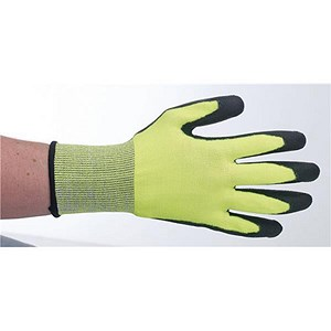 Image of Keepsafe Safety Gloves / Size 8 / Green & Black / Pair