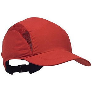 Image of Scott HC23 First Base Safety Bump Cap - Red