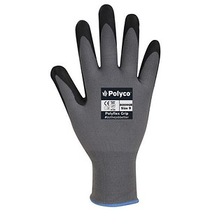 Image of Juba Gloves Agility Nitrile Foam Coated H/G / Size 9 / Black-Red / Pair