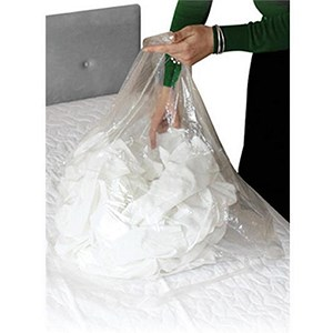 Image of Medium Laundry Bags / Dissolving Strips / 50 Litre / Clear / Pack of 200