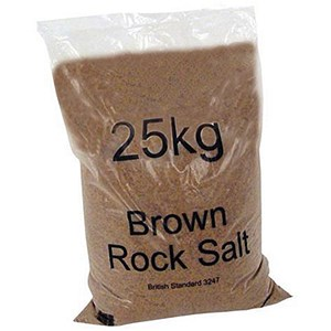 Image of Rock Salt Bag De-icing 25kg Brown [Packed 10]