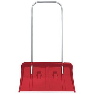 Image of Winter Snow Pusher Red with Integral Wheels
