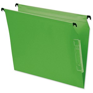 Image of Bantex Flex Kraft Lateral Files / V Base / 330mm Width / Green / Pack of 25