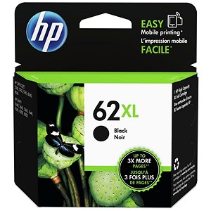 Image of HP 62XL Black Ink Cartridge
