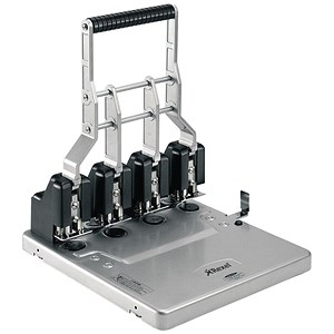 Image of Rexel HD4150 Ultra Heavy-duty 4-Hole Punch / Adjustable Depth Gauge: 9-17 mm / Punch capacity: 150 Sheets