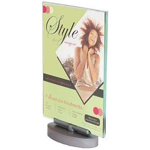 Image of Deflecto Portrait Swivel Sign Holder - 1/3 A4