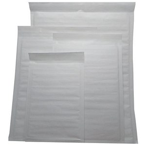 Image of Jiffy Superlight Foam-lined Mailer / White / Kraft / Outer Size 1 / 200x260mm / 12.2g / Pack of 200