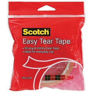 Image of Scotch Easy Tear Tape - 19mm x 30m