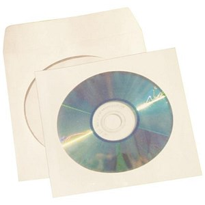 Image of 5 Star CD/DVD/Blu Ray Envelope Sleeve with Window / White / Pack of 50