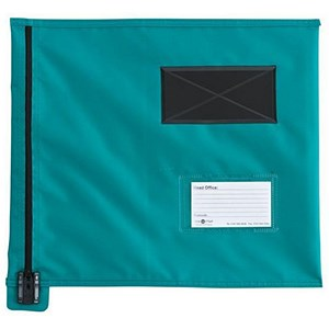 Image of A4+ Flat Mailing Pouch with Lockable Zip / 355 x 386mm / Green