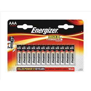 Image of Energizer Max AAA/E92 Batteries - Pack of 12