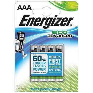 Image of Energizer Eco Advance Batteries / AAA/E92 / Pack of 4