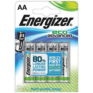 Image of Energizer Eco Advance Batteries / AA/E91 / Pack of 4