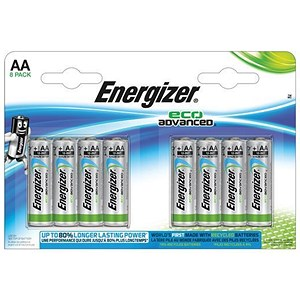 Image of Energizer Eco Advance Batteries / AA/E91 / Pack of 8