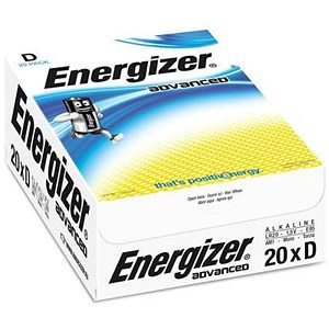 Image of Energizer Eco Advanced Batteries / D/E95 / Pack of 20