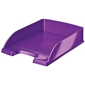 Image of Leitz Bright Stackable Letter Tray - Glossy Metallic Purple